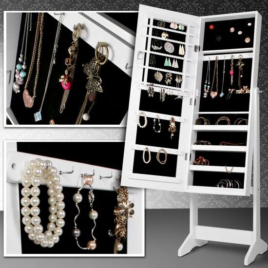 Stojeći ormar za nakit s ogledalom