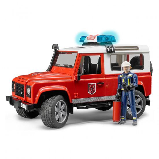 Bruder Land Rover Defender vatrogasni auto i vozač