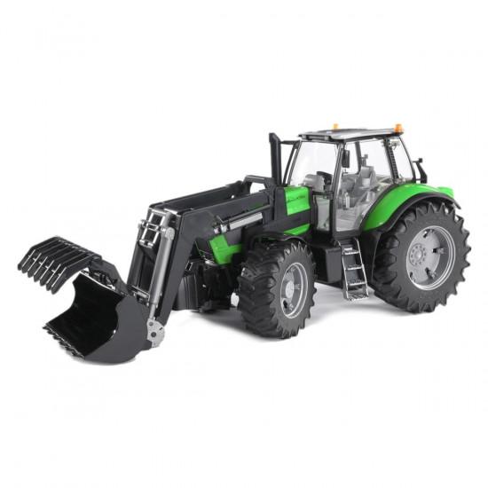 Traktor Bruder s prednjim utovarivačem Deutz agrotron