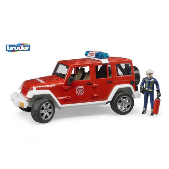 Bruder Jeep Wrangler vatrogasno vozilo s figuricom