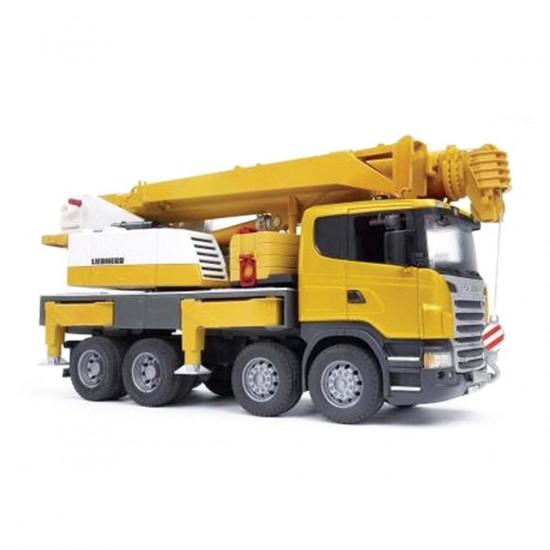 Bruder radno vozilo Scania - dizalica Liebherr (luč in zvok)