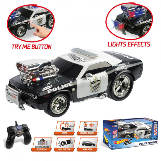 Hot Wheels R/C Police Pursuit automobil