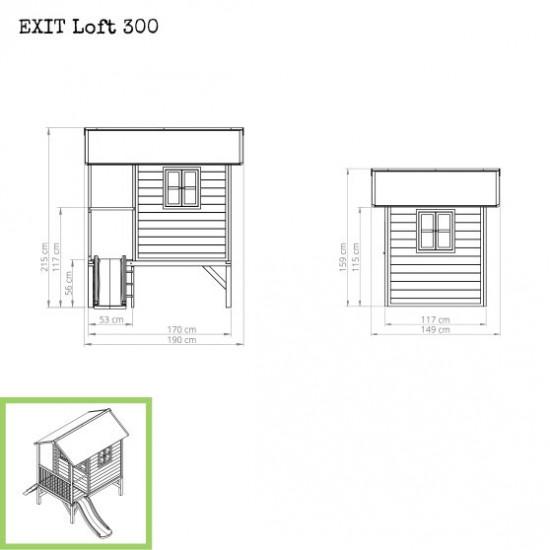 Dječja kućica Loft 300