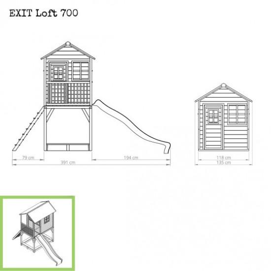 Dječja kućica Loft 700