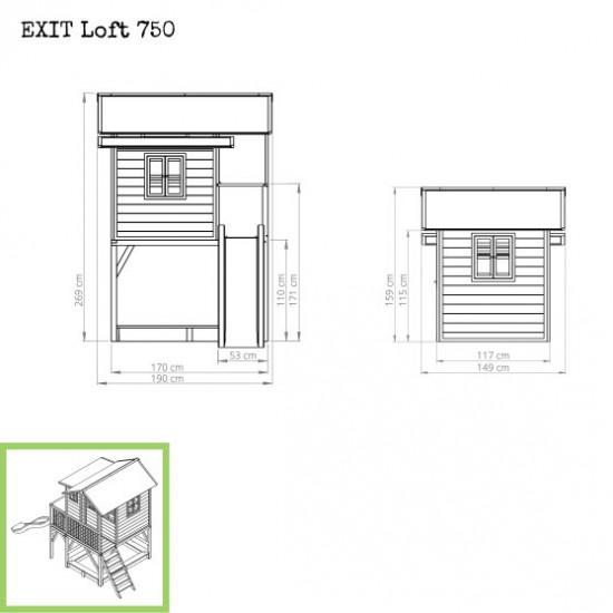 Dječja kućica Loft 750