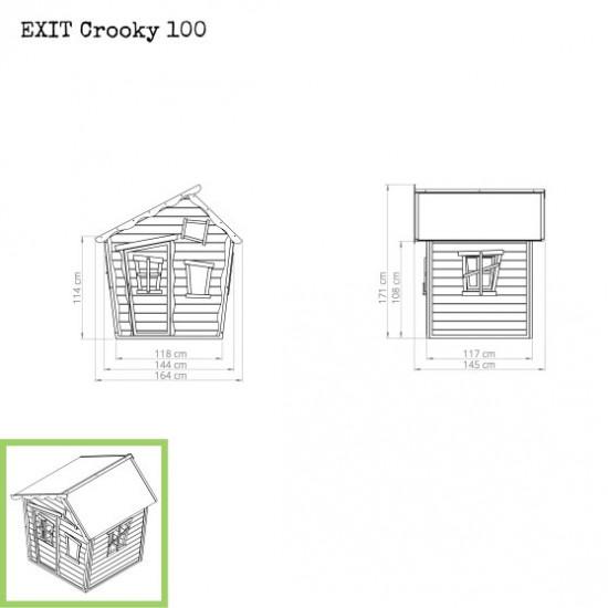 Dječja kućica Crooky 100