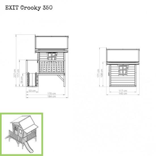 Dječja kućica Crooky 350