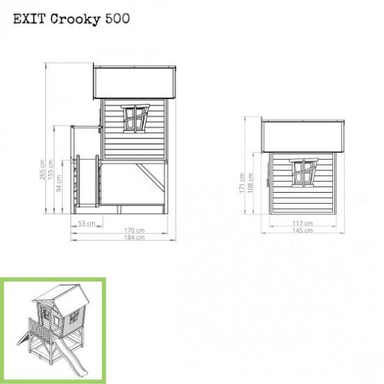 Dječja kućica Crooky 500