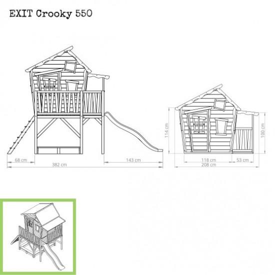Dječja kućica Crooky 550