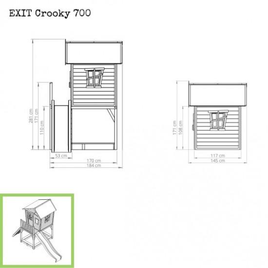 Dječja kućica Crooky 700