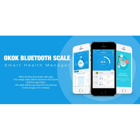 Vaga Platinet PBSBTB Bluetooth aplikacija Android+IOS do 180kg bijela