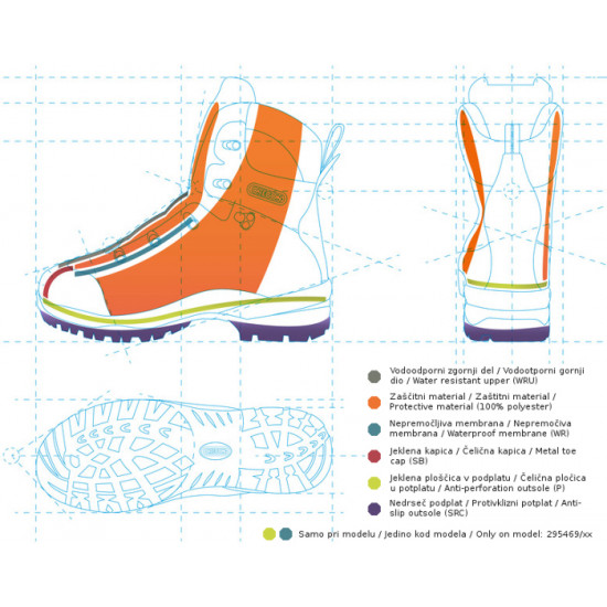 Oregon šumarske cipele klasa II br.44