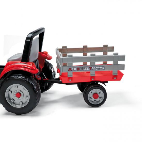 Traktor s pedalama i prikolicom Maxi Diesel