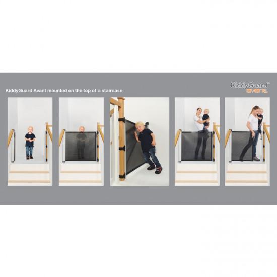 Zaštitna ograda KiddyGuard Avant New - crna