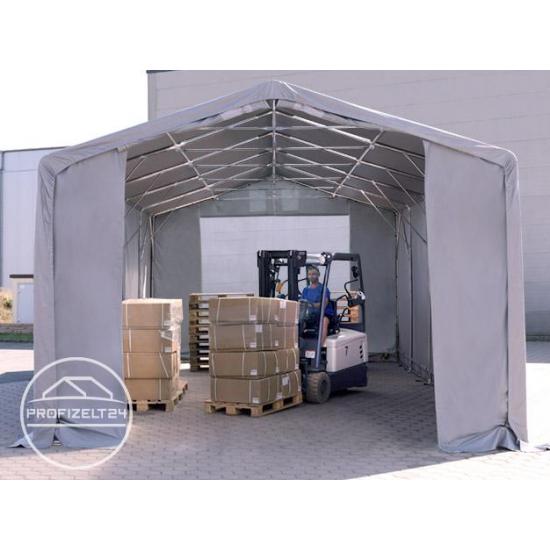 Šator za skladištenje hala 6x10 m - bočna visina 3,0 m s patentnim zatvaračem, PVC 720 g/m2