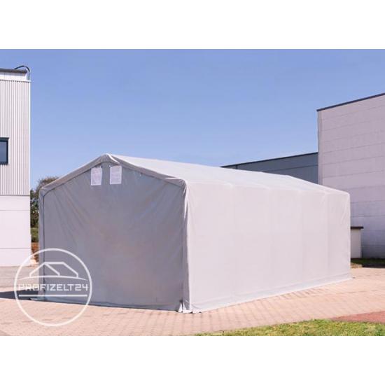 Šator za skladištenje hala 8x8 m - bočna visina 4,0 m s patentnim zatvaračem, PVC 550 g/m2
