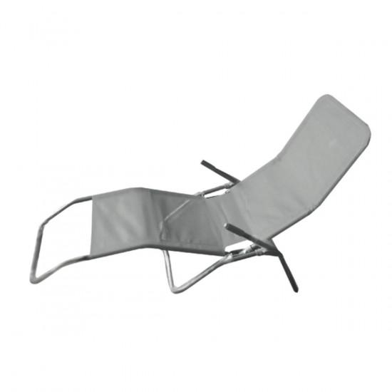 Ležaljka od tekstila MQ Spa, siva