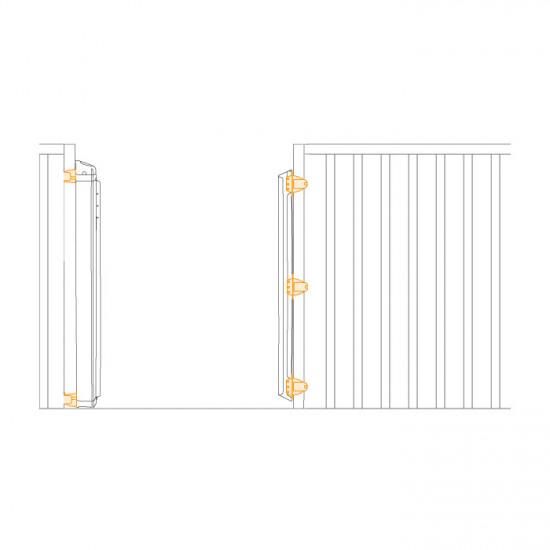 Zaštitna ograda KiddyGuard Avant New - bijela