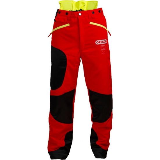 Oregon zaštitne hlače crvene/žute Waipoua klasa I br.42/44 (S)