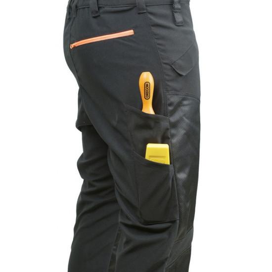 Oregon zaštitne hlače sa naramenicama Waipoua crne klasa I br.46/48 (M)