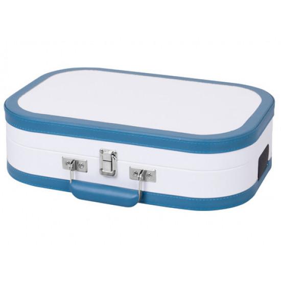 Prenosni gramofon TREVI TT 1020 SALLY BT s tehnologijo Bluetooth, USB, AUX-IN, RCA, belo-turkizen