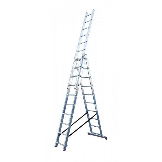 Trodijelna aluminijska ljestva 3x10 stepenica