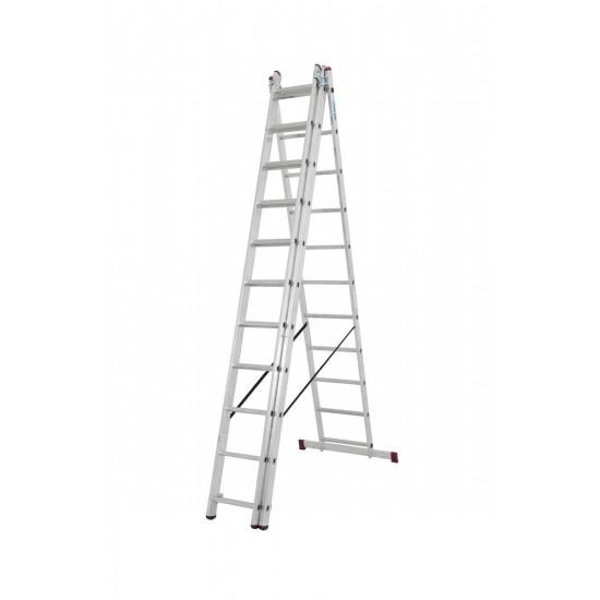 Trodijelna aluminijska ljestva 3x11 stepenica