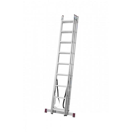 Trodijelna aluminijska ljestva 3x9 stepenica