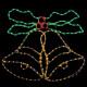 Svjetla LED dva zvona 83 x 73 cm, efekt zvonjenja