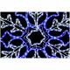 Svjetla Snježna pahulja LED bijela/plava 80 cm