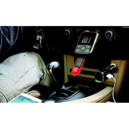 BLOW FM Oddajnik 3v1 Bluetooth + Polnilec + prostoročno telefoniranje, beli