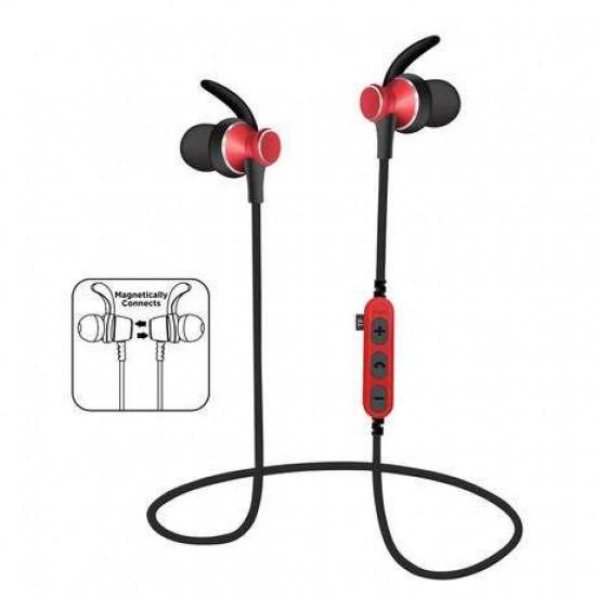 Bluetooth športne slušalke PLATINET IN-EAR rdeče