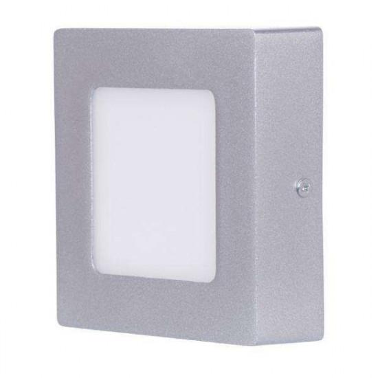 LED stropna svjetiljka S6W NW srebrna kvadratna
