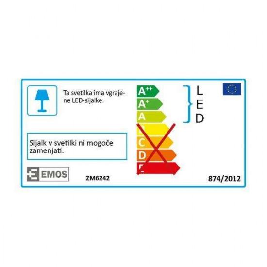LED stropna svjetiljka Emos Panel S18W NW srebrna kvadratna