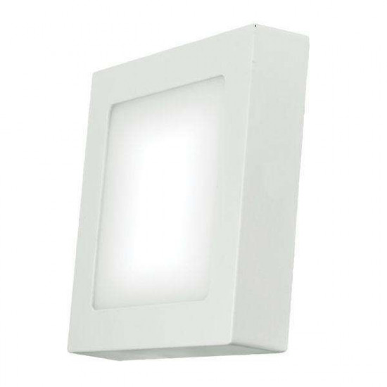 LED stropna svjetiljka Emos Panel S6W NW bijela kvadratna