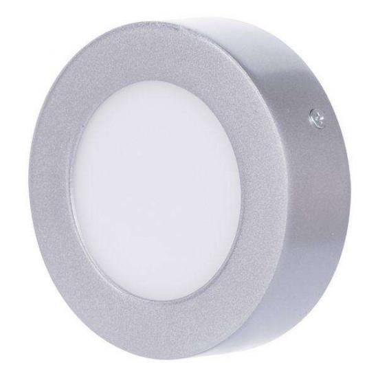 LED stropna svjetiljka Emos Panel C6W NW srebrna okrugla