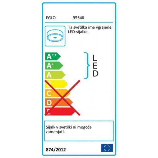 LED stropna svjetiljka Eglo Romao 24W FI500 siva