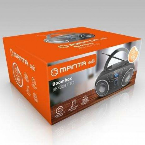 FM RADIO Player MANTA BBX004 Radio CD, MP3, USB