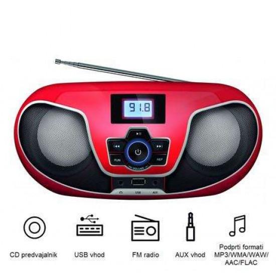 FM RADIO Player MANTA BBX005 Radio CD, MP3, USB