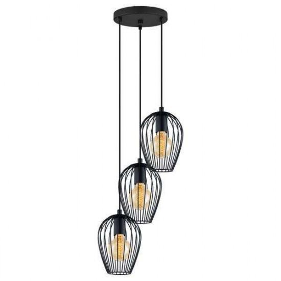 Viseća svjetiljka Eglo 49479 Newtown crna
