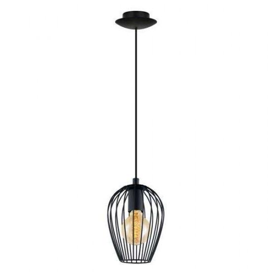 Viseća svjetiljka Eglo 49477 Newtown črna