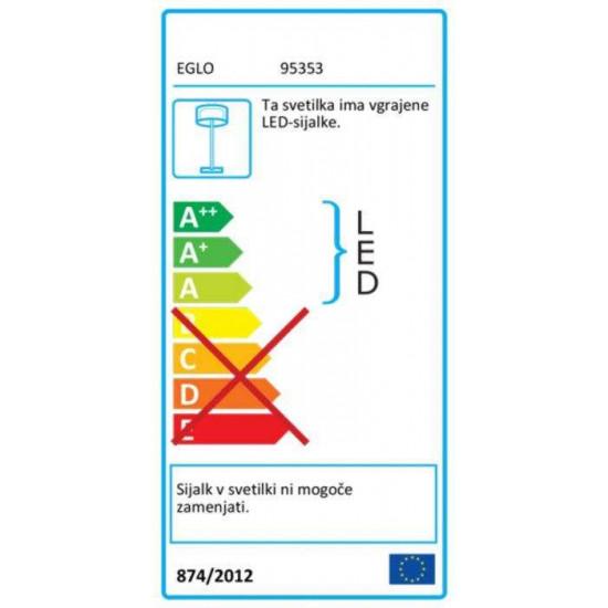 Podna svjetiljka EGLO ROMAO 24W siva