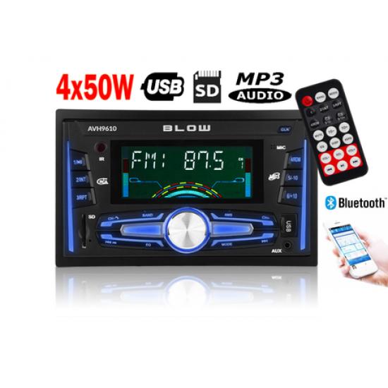 Avtoradio BLOW AVH9610 2DIN / FM radio, Bluetooth, MP3, USB, SD, AUX
